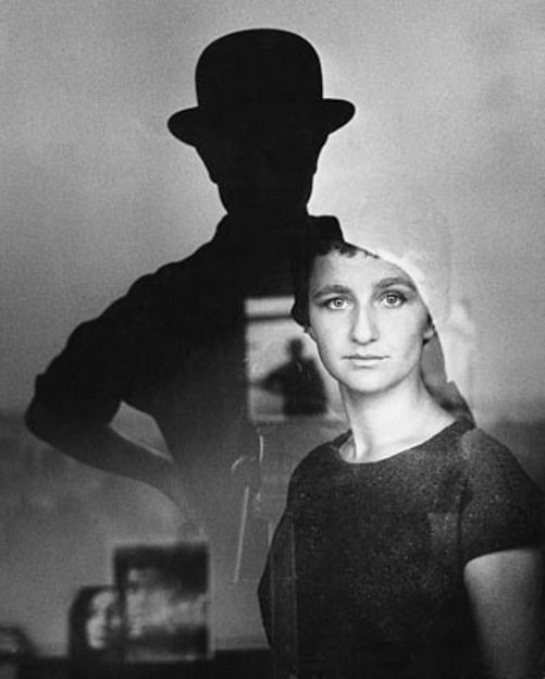 Guido Mangold - self portrait, 1961 #portrait #photography   Guido Chard - Self Portrait with Marta, 1961