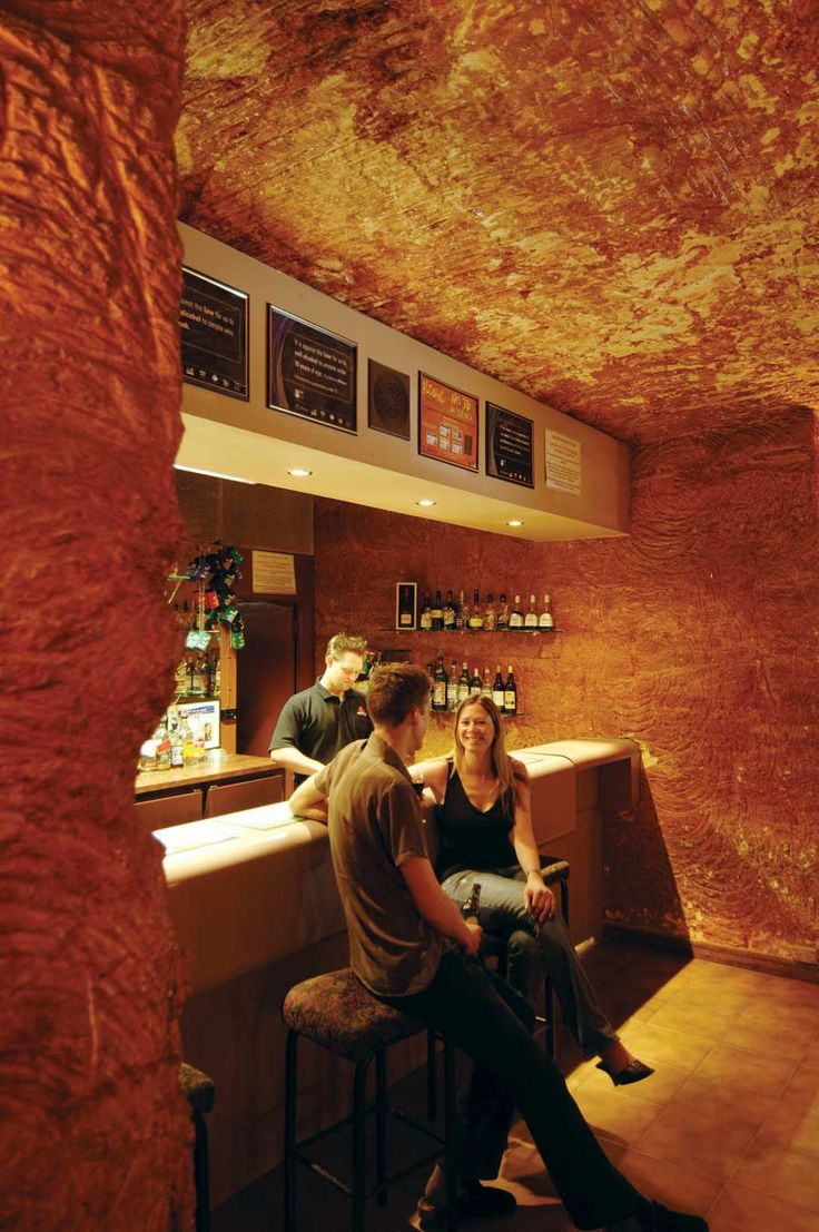 The Australian town of Coober Pedy has restaurants, art galleries, bars and hotels, all underground.