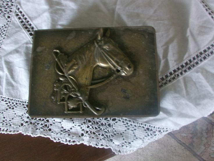Zauberhafte alte Holzschatulle mit Pferdekopf 60er von MajaSt auf DaWanda.com