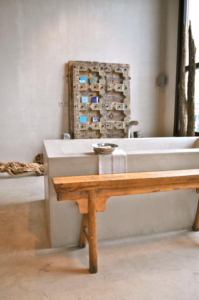 17 best images about tadelakt waterproof earthen plaster for Tadelakt bathroom ideas