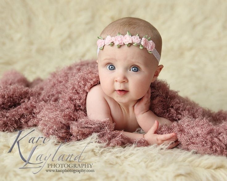 6 month old Baby poses for pictures | baby posing, taken by Kari Layland Photography
