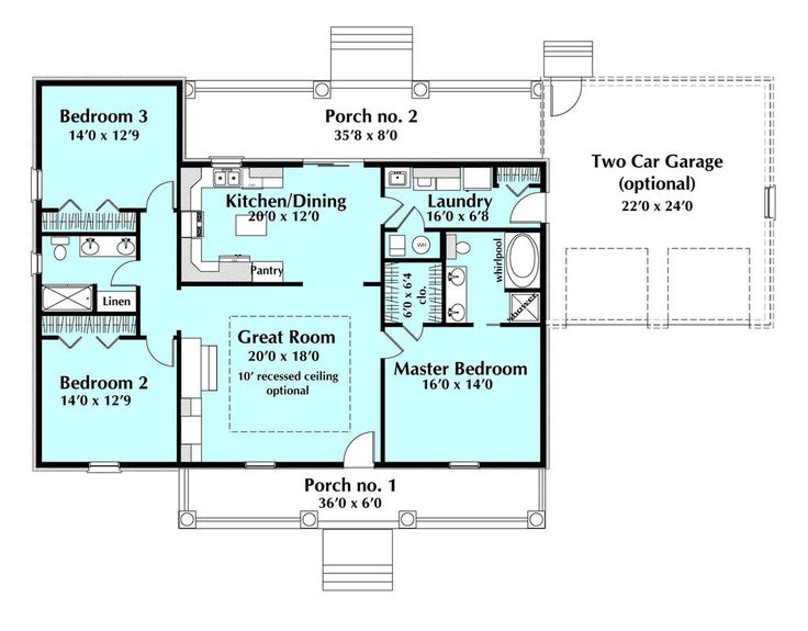 189 best House Plans images on Pinterest | Small house plans ...