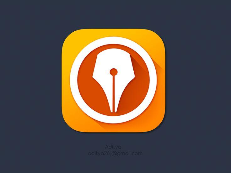 'Digital Signer' ios7 flat App icon by Aditya Chhatrala