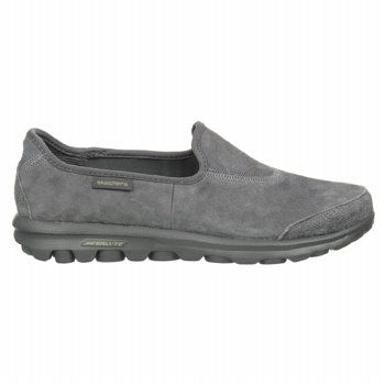 Sketchers Go Walk. Really, like walking on air. I just got these in black suede so I could wear them with black slacks to work. Really nice feel to them.