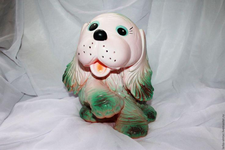 Купить Собака резиновая голубая из СССР - игрушки для ванной, игрушки 8, детские резиновые