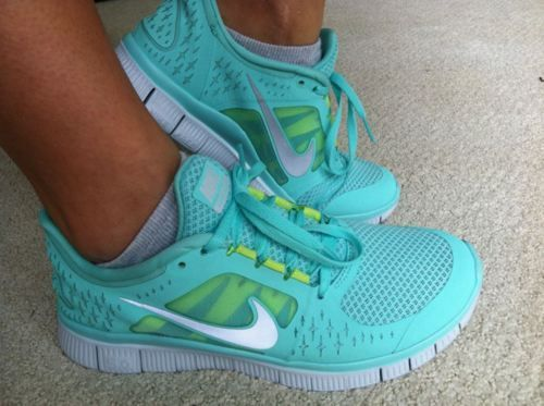 :)Running Shoes, Colors, Tiffany Blue, Workout Shoes, Nike Free Running, Nike Running, Nike Shoes, Nike Sneakers, New Shoes