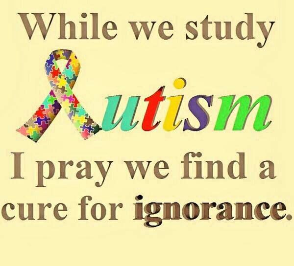 the ignorance toward autism The 28-year-old michigan native likes to paint, read, and watch hockey she   this is the case with autism spectrum disorders (asd), a set of.