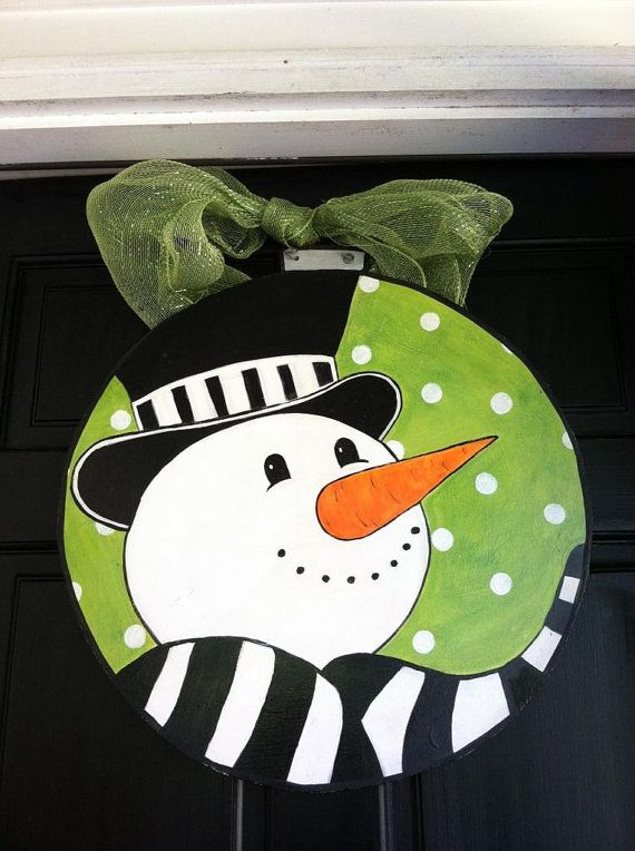 Snowman Door Hanger by twocreatives on Etsy, $45.00