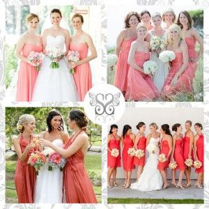 Coral bridesmaids - Damigelle d'onore color corallo