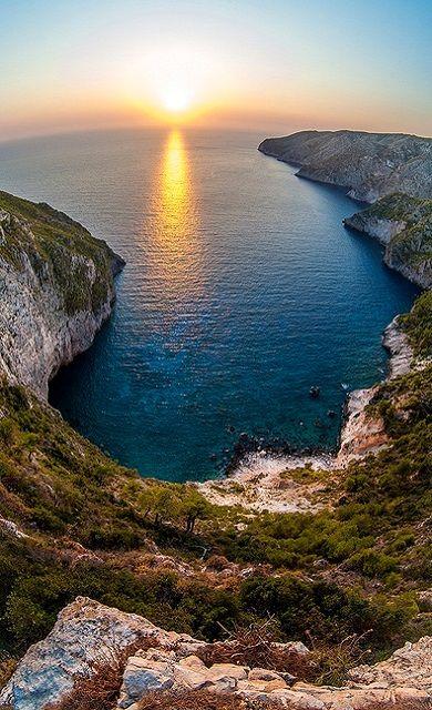 Sunset.. Kampi, Zakynthos Island (Ionian), Greece | Flickr - Photo by stephanrudolph