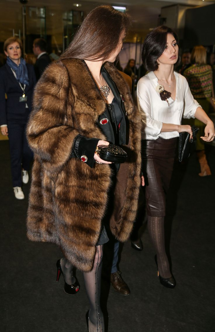 Classy Ladies in their furs and leathers.