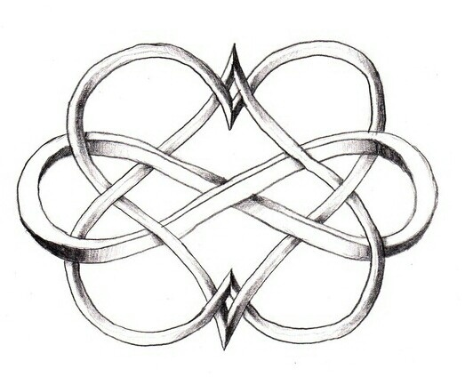 two hearts and infinity symbol tatted pinterest get