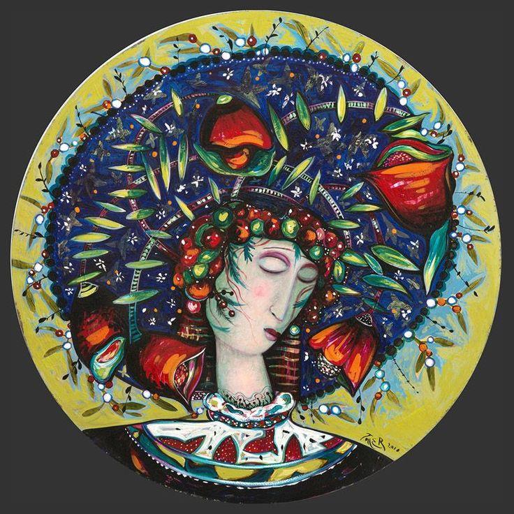Blueberry Headdress by Toller Cranston