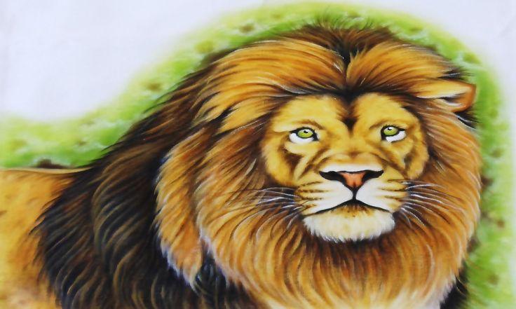 Pintura de Animais - Leão