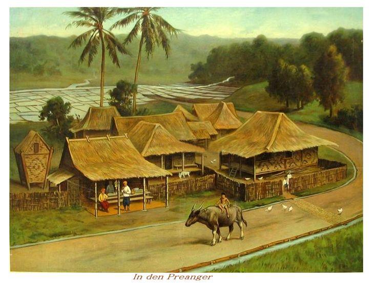De Preanger region West-Java school instruction board for elementary school