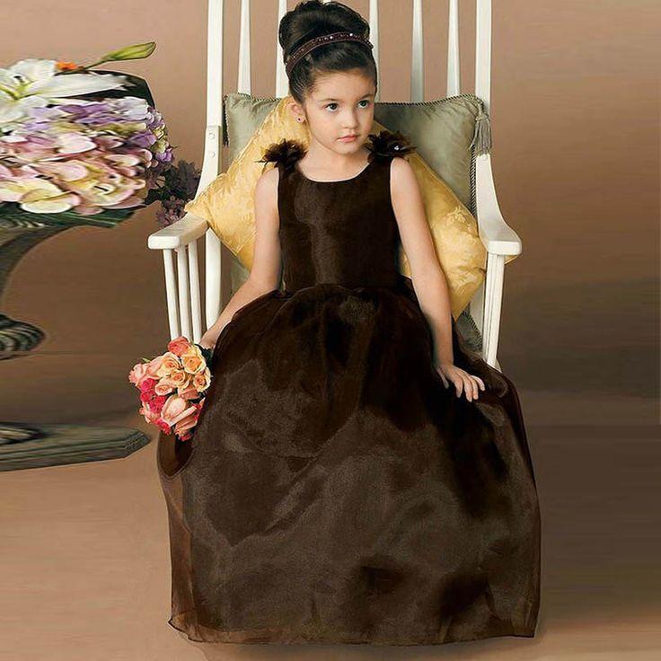 Vestido De Comunion Jewel Neck Backless mit Bogen Blumenmädchen Kleid lange Kinder prom Kleid PAGEANT Abendkleider Kleid Mädchen //Price: $US $71.99 & FREE Shipping //     #clknetwork