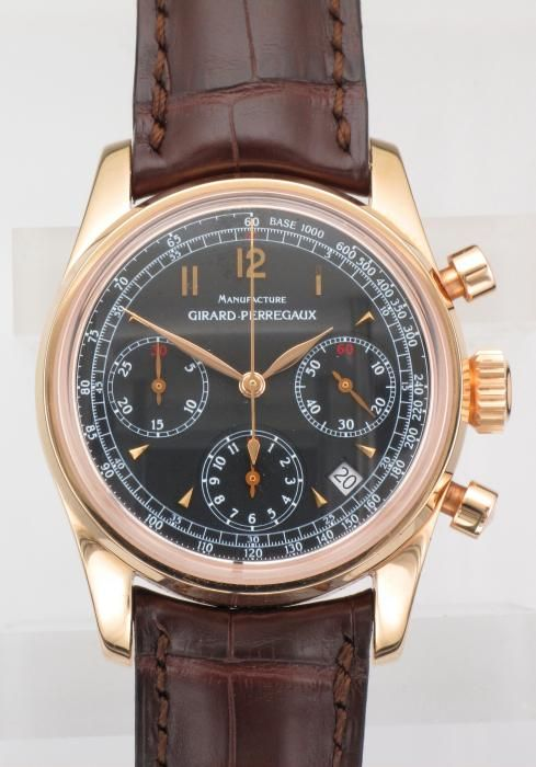Gts.18ct.Rose Gold Girard-Perregaux Chronograph - Attenborough Pawnbrokers & Jewellers