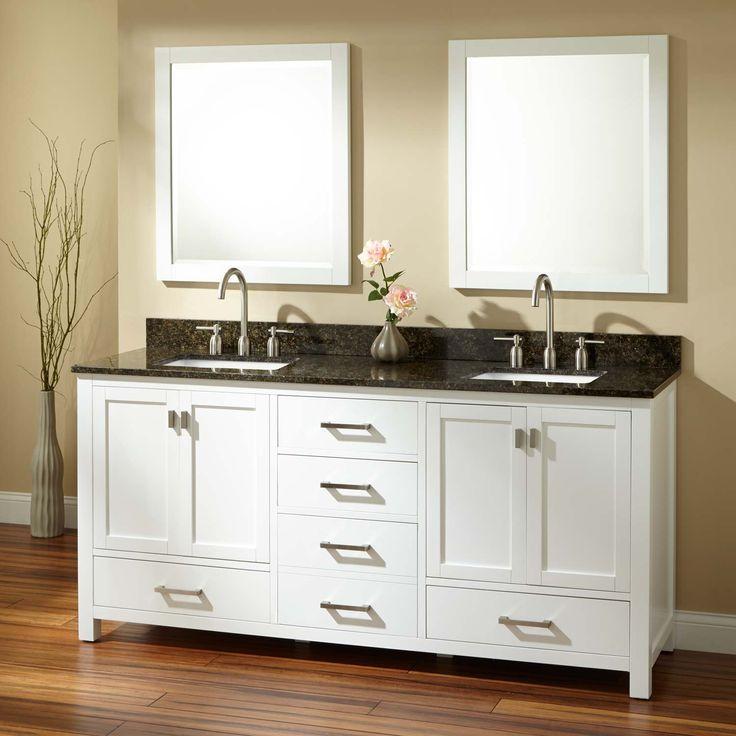 72 modero double vanity for rectangular undermount sinks white
