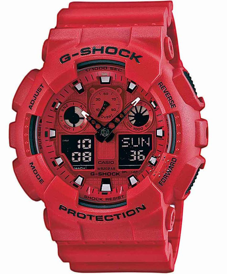 CASIO G-Shock Anadigi Red Rubber Strap Η τιμή μας: 118€ http://www.oroloi.gr/product_info.php?products_id=36929