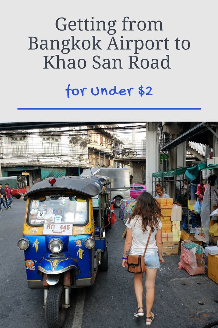 Getting from Bangkok Airport to Khao San