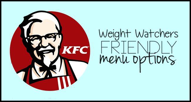 KFC's Menu Weight Watchers SmartPoints