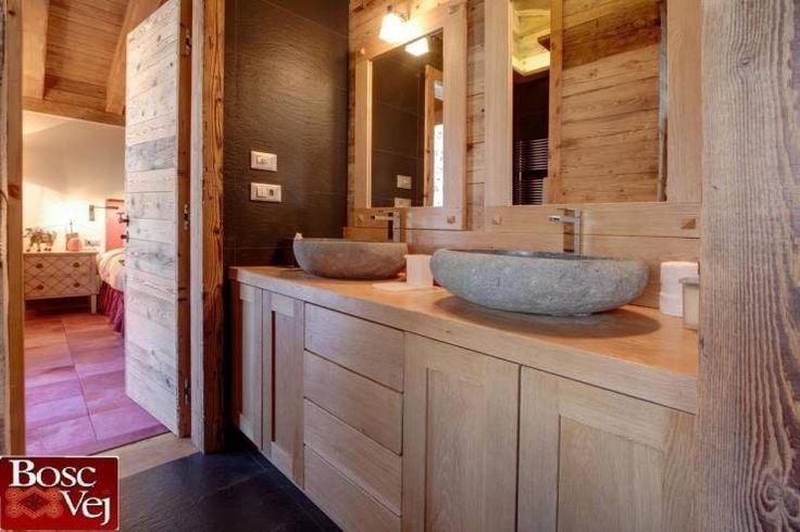 Casas de banho rústicas por Bosc Vej s.r.l.