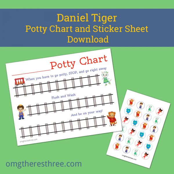 Downloadable Daniel Tiger Potty Training Sticker Chart | OMG There's Three