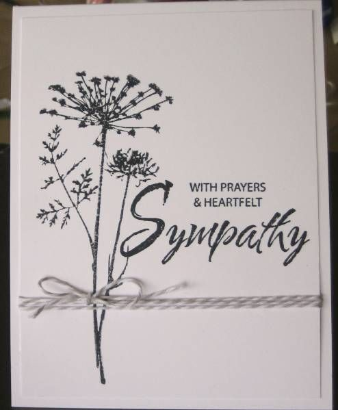 CAS Sympathy by Zoie - Cards and Paper Crafts at Splitcoaststampers