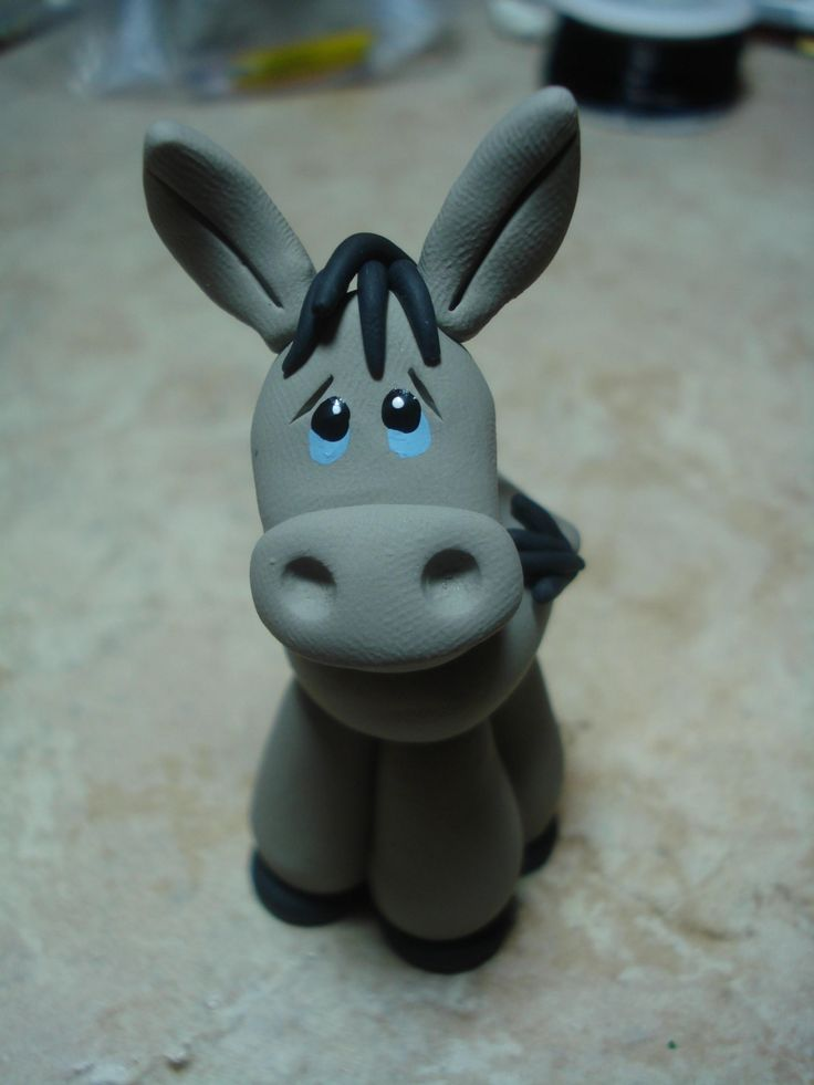 Donkey Clay Figurine