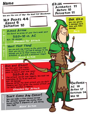 dungeon and dragons character sheets for kids. juego de rol