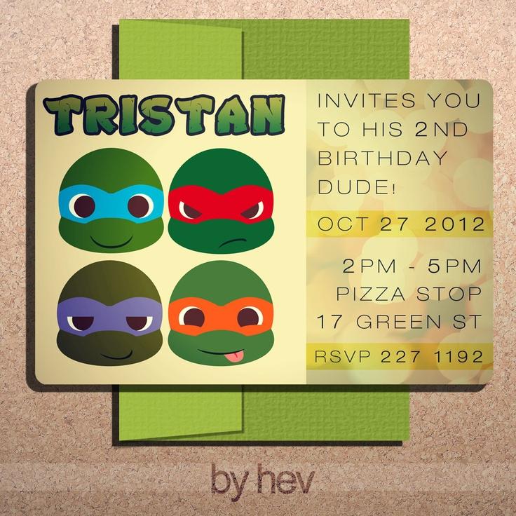 43 best Ninja Turtle Party images on Pinterest
