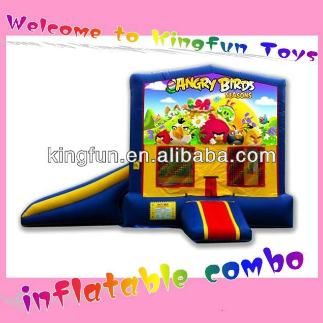 Birds angry inflatable bouncer house with slide