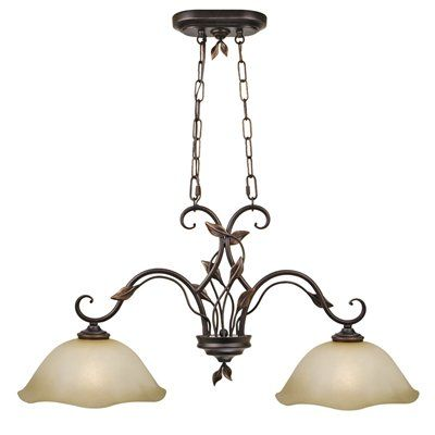Shop allen roth bronze island light with amber shade at lowes canada find our selection of kitchen island lighting at the lowest price guaranteed with