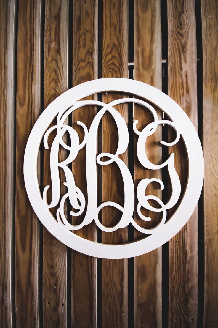 Vine Script Monogram- Wooden Monogram- Wall Hanging -Nursery Monogram- Wedding Monogram - Monogram Door Hanger by GalleryWoodLetters on Etsy https://www.etsy.com/listing/263023914/vine-script-monogram-wooden-monogram