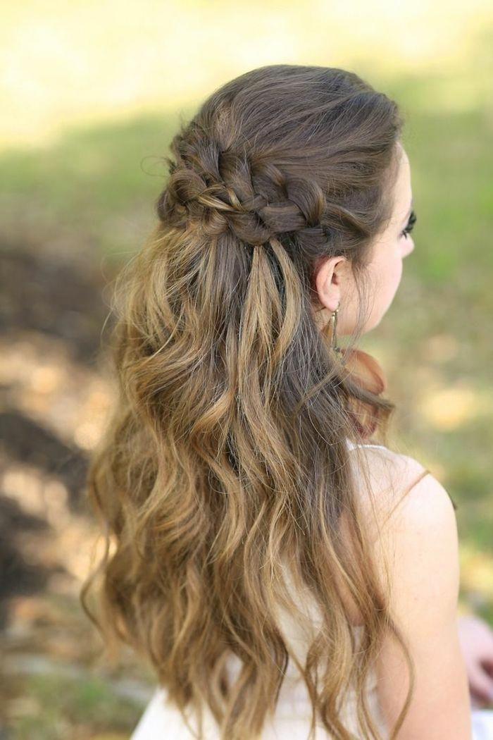 braid hairstyles for wedding Half Up #braidsforkid…