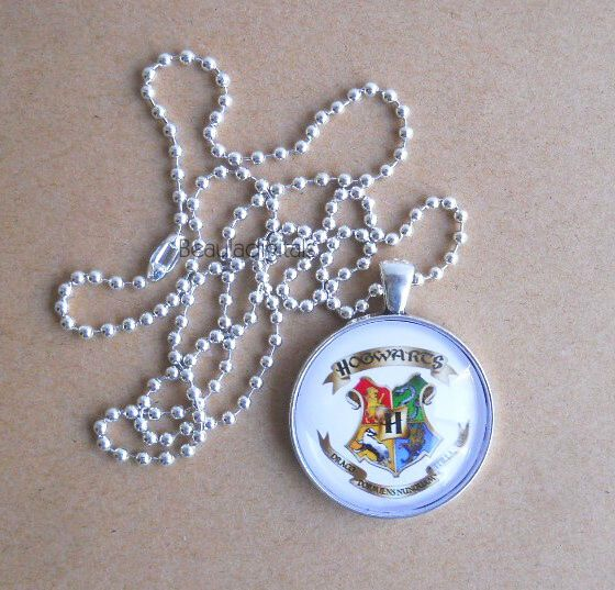 Wizard Pendants Harry Potter Themed Jewelry - Handmade and Designed White