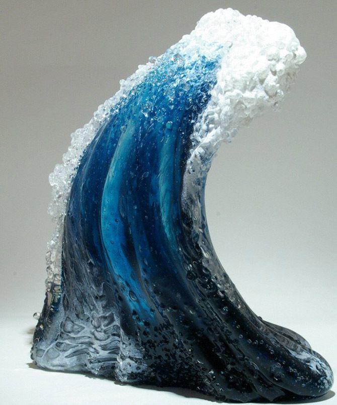 Морские волны в скульптурах Марши Блейкер и Пола ДеСоммы
