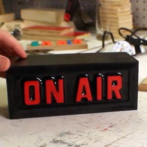 """Making a remote controlled """"on-air"""" light, to let people know that you're busy!"""
