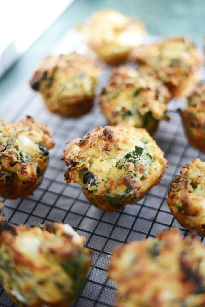 Spinach and feta savoury muffins