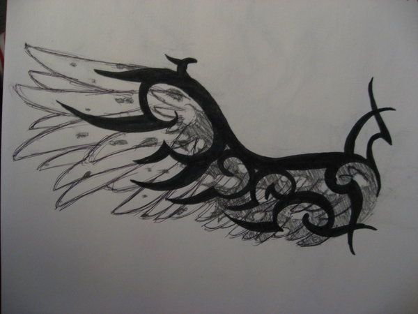 Torn tribal wing by ~DeathofSilence on deviantART