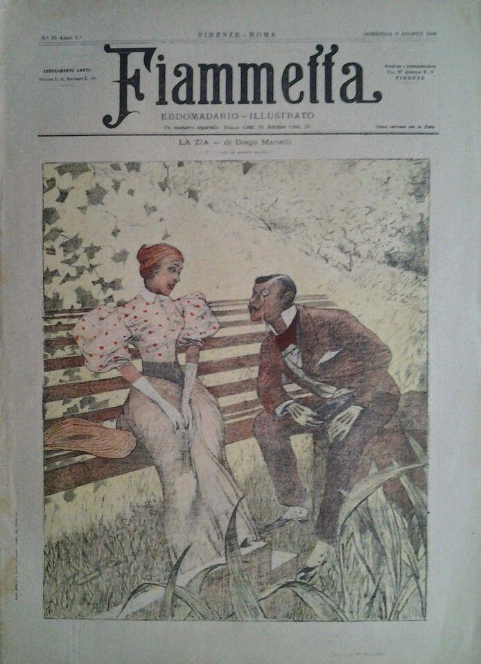 Fiammetta 1896,  Cover by Telemaco Signorini