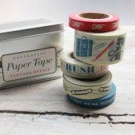 Kit Washi Tape - Vintage Office (5 cintas)