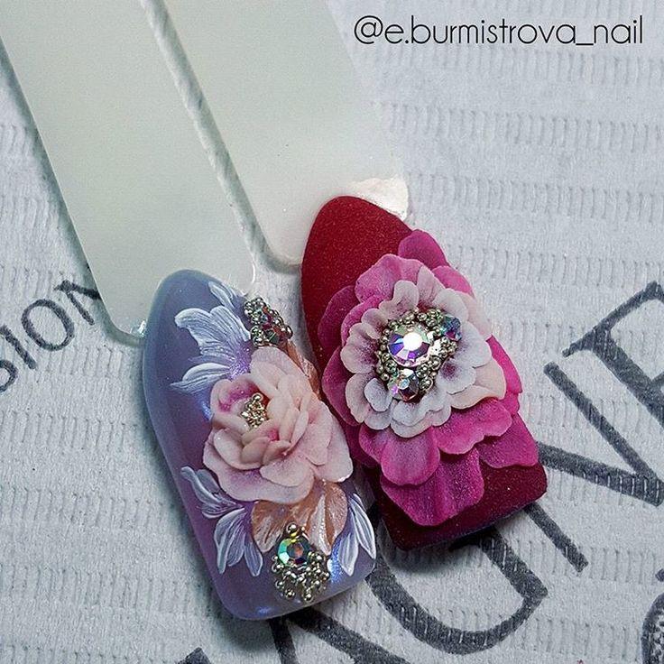Beautiful 3D Designs by elena burmistrova  #3Dnailart #nailart #acrylics #nailtech