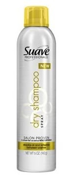 Suave Dry Shampoo. Its the best! It smells nice and its super cheap