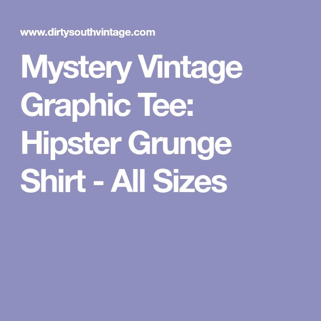Mystery Vintage Graphic Tee: Hipster Grunge Shirt - All Sizes