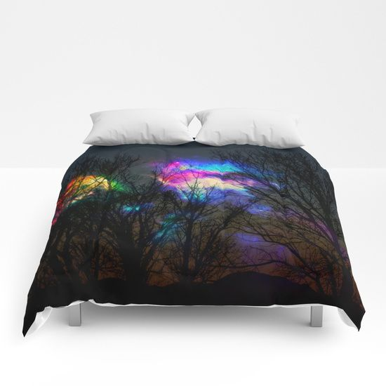nebula in the naked trees Comforters