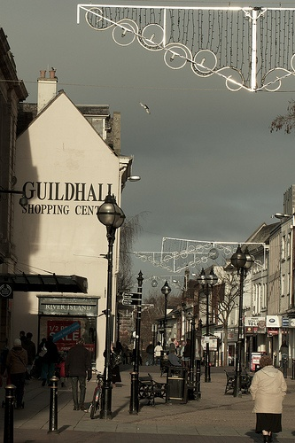 Stafford Town Centre  UK - Old style colour look