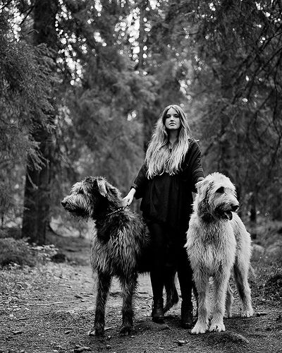 Cecilie and Irish wolfhound. I love Irish wolfhounds!!!!