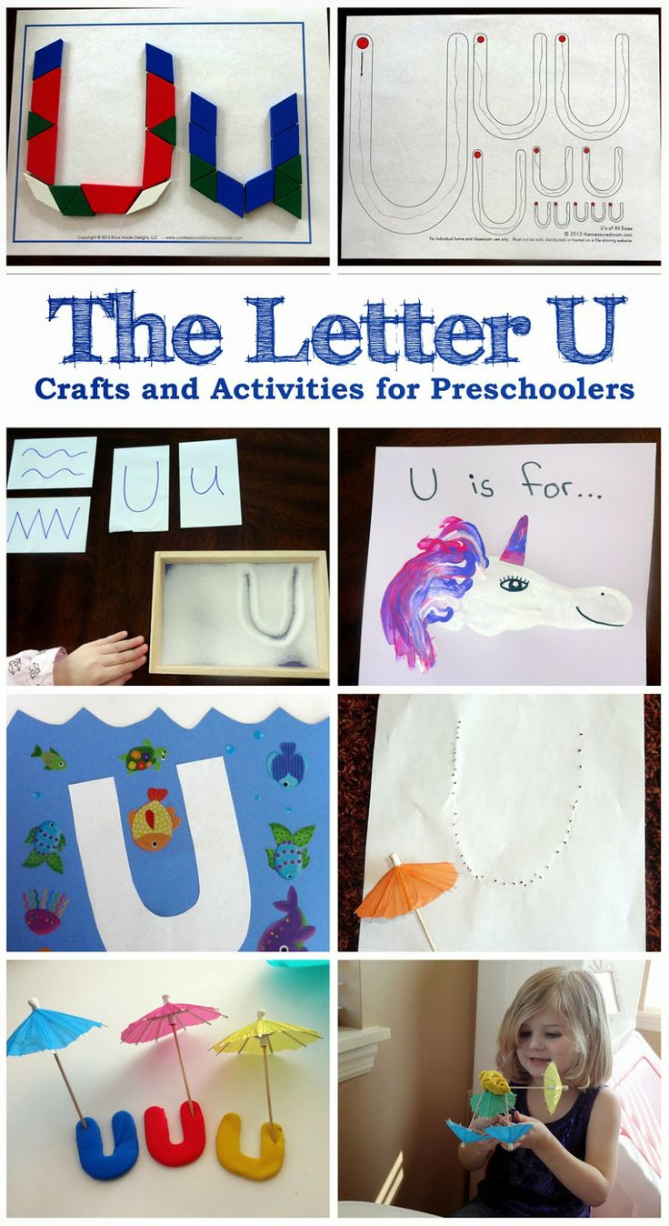 The Letter U - Crafts and activities for preschoolers learning the alphabet.