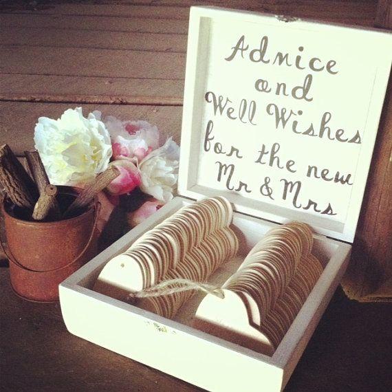 Wood Heart Wishing Tree Tags In Wood Box by DownInTheBoondocks, $25.00